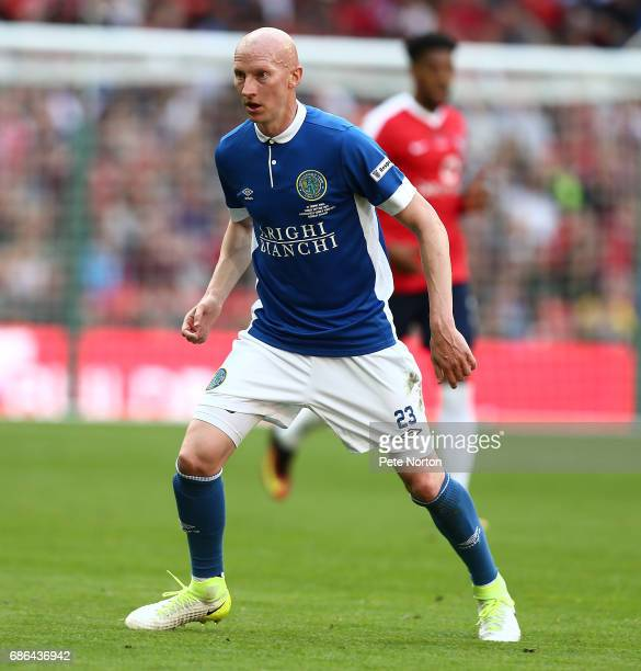 Danny Whitaker of Macclesfield Town in action during The Buildbase FA Trophy Final between York City and Macclesfield Town at Wembley Stadium on May...