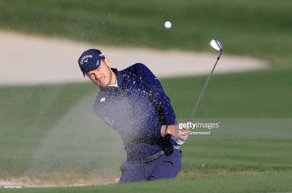 Danny Willett of England hits a shot during a practice round prior to the Arnold Palmer Invitational Presented By MasterCard at Bay Hill Club and Lodge on March 13, 2018 in Orlando, Florida.