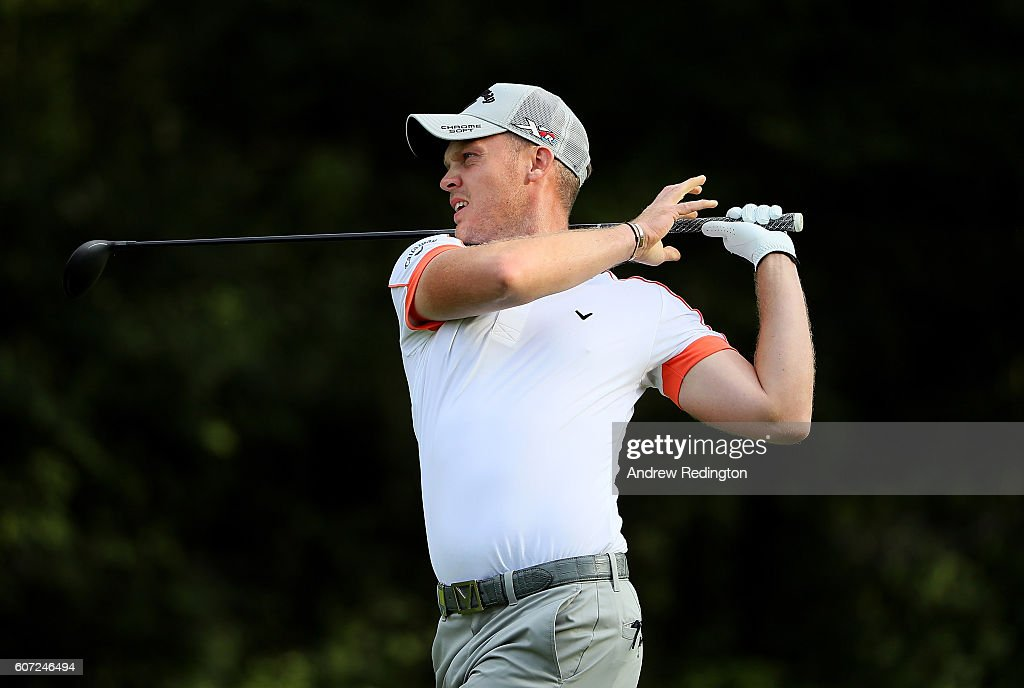 Danny Willett of England hits his second shot on the 1st hole during the third round of the Italian Open at Golf Club Milano - Parco Reale di Monza on September 17, 2016 in Monza, Italy.