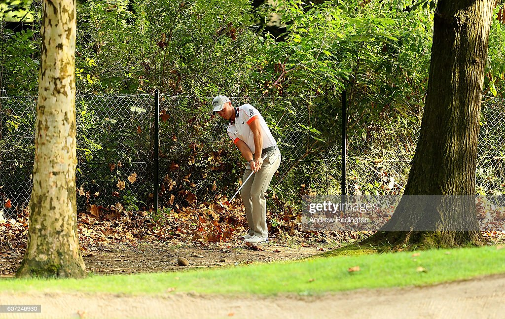 Danny Willett of England hits his third shot on the 1st hole during the third round of the Italian Open at Golf Club Milano - Parco Reale di Monza on September 17, 2016 in Monza, Italy.