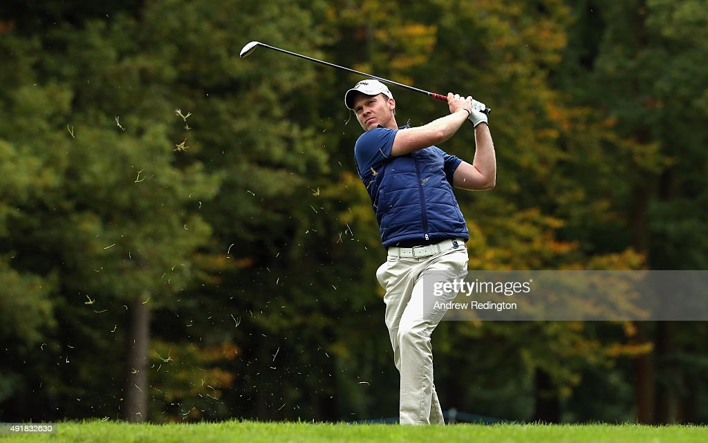 Danny Willett of England in action during the first round of the British Masters supported by Sky Sports at Woburn Golf Club on October 8, 2015 in Woburn, England.