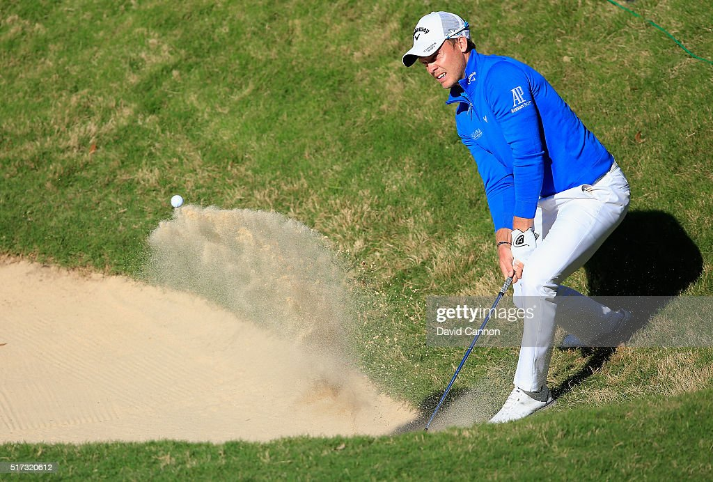 Danny Willett of England plays a bunker shot on the 15th hole during the second round of the World Golf Championships-Dell Match Play at the Austin Country Club on March 24, 2016 in Austin, Texas.