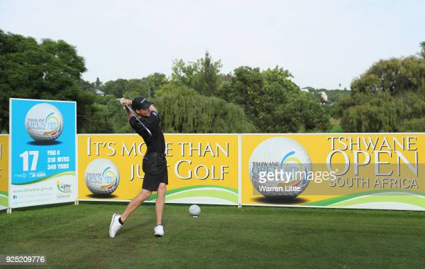 Danny Willett of England plays a practice round ahead of the Tshwane Open at Pretoria Country Club on February 28 2018 in Pretoria South Africa