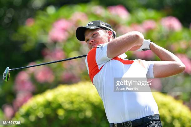 Danny Willett of England plays a shot during Day Three of the Maybank Championship Malaysia at Saujana Golf Club on February 11 2017 in Kuala Lumpur...
