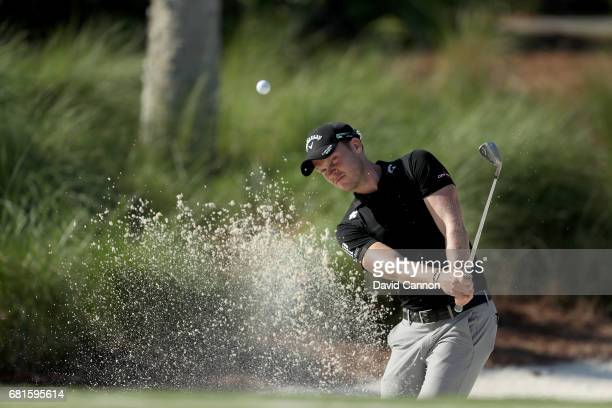 Danny Willett of England plays a shot during practice for THE PLAYERS Championship on the Stadium Course at TPC Sawgrass on May 10 2017 in Ponte...