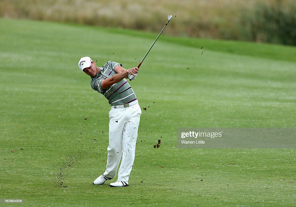 Danny Willett of England plays his second shot into the 15th green during the third round of the Tshwane Open at Copperleaf Golf & Country Estate on March 2, 2013 in Centurion, South Africa.