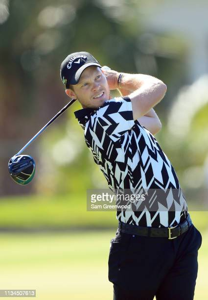 Danny Willett of England plays his shot from the 12th tee during the second round of the Arnold Palmer Invitational Presented by Mastercard at the...