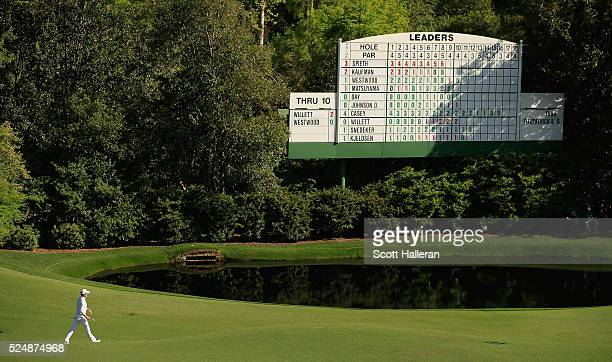 Danny Willett of England walks on the 11th hole during the final round of the 2016 Masters Tournament at the Augusta National Golf Club on April 10...