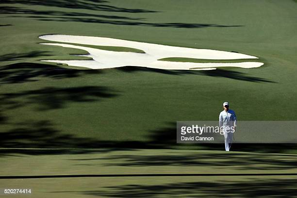 Danny Willett of England walks on the tenth hole during the final round of the 2016 Masters Tournament at Augusta National Golf Club on April 10 2016...