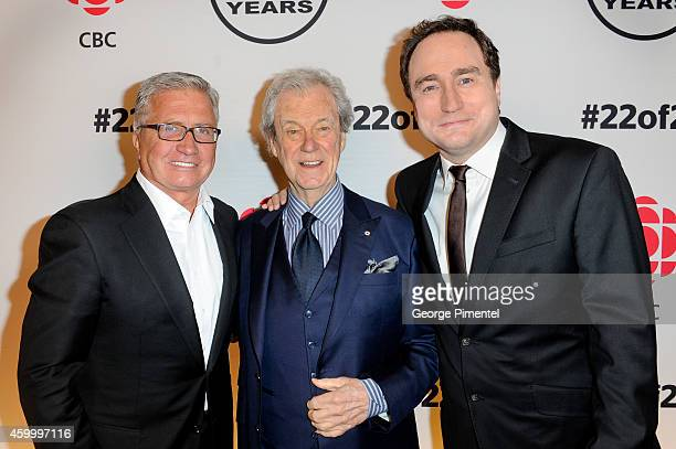 Danny Williams Gordon Pinsent and Mark Critch attend the This Hour Has 22 Minutes 22nd Year Celebration at TIFF Bell Lightbox on December 4 2014 in...