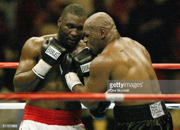 Danny Williams of Great Britain fights Mike Tyson July 30 2004 at Freedom Hall in Louisville Kentucky