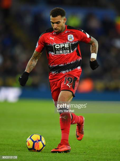 Danny Williams of Huddersfield Town during the Premier League match between Leicester City and Huddersfield Town at The King Power Stadium on January...