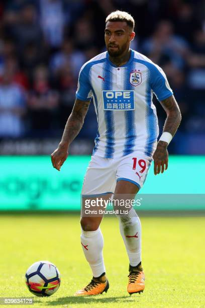 Danny Williams of Huddersfield Town in action during the Premier League match between Huddersfield Town and Southampton at John Smith's Stadium on...