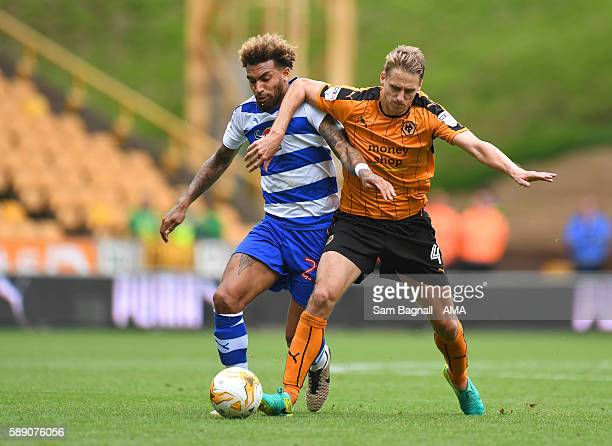 Danny Williams of Reading and Dave Edwards of Wolverhampton Wanderers during the Sky Bet Championship match between Wolverhampton Wanderers and...