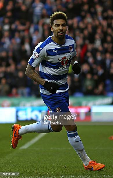 Danny Williams of Reading celebrates after scoring the opening goal of the game during the Sky Bet Championship match between Reading and Blackburn...
