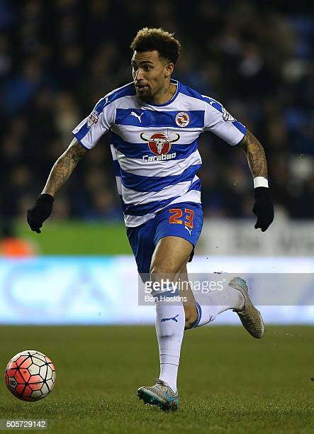Danny Williams of Reading in action during The Emirates FA Cup Second Round match between Reading and Huddersfield Town at Madejski Stadium on...