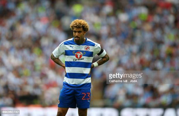 Danny Williams of Reading stands dejected during the Sky Bet Championship Play Off Final match between Reading and Huddersfield Town at Wembley...