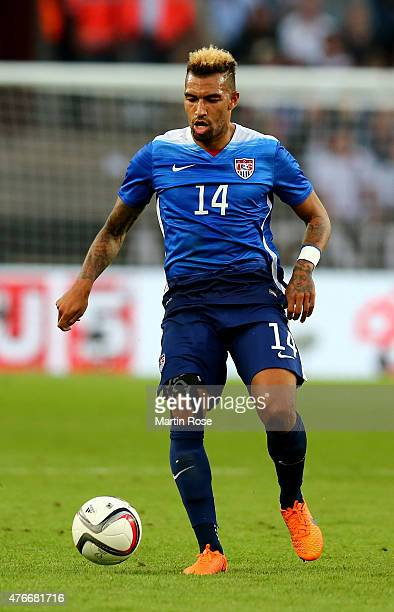 Danny Williams of USA runs with the ball during the International Friendly match between Germany and USA at RheinEnergieStadion on June 10 2015 in...