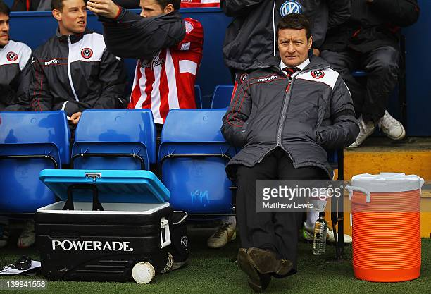 Danny Wilson manager of Sheffield United looks on during the npower League One match between Sheffield Wednesday and Sheffield United at Hillsborough...