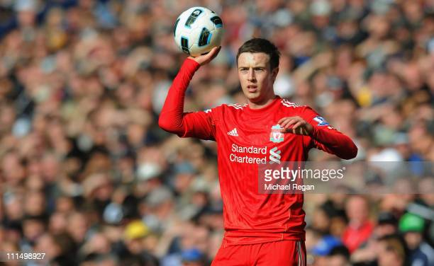 Danny Wilson of Liverppol in action during the Barclays Premier League match between West Bromwich Albion and Liverpool at The Hawthorns on April 2...