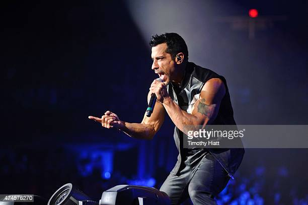 Danny Wood from the band New Kids On The Block performs at Allstate Arena on May 23 2015 in Rosemont Illinois