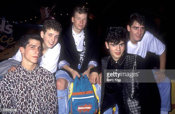 Danny Wood Joe McIntyre Donnie Wahlberg Jordan Knight and Jonathan Knight of New Kids on the Block in Los Angeles CA