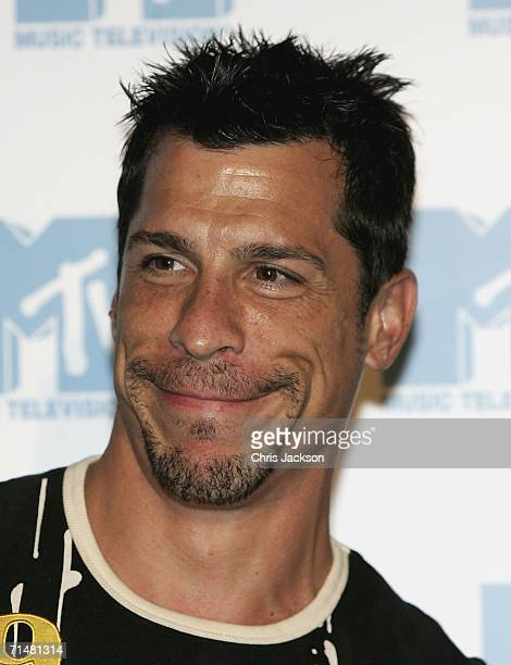 Danny Wood, member of the New MTV program 'Totally Boyband', talks at an MTV press conference to introduce the new band, July 19, 2006 in London,...