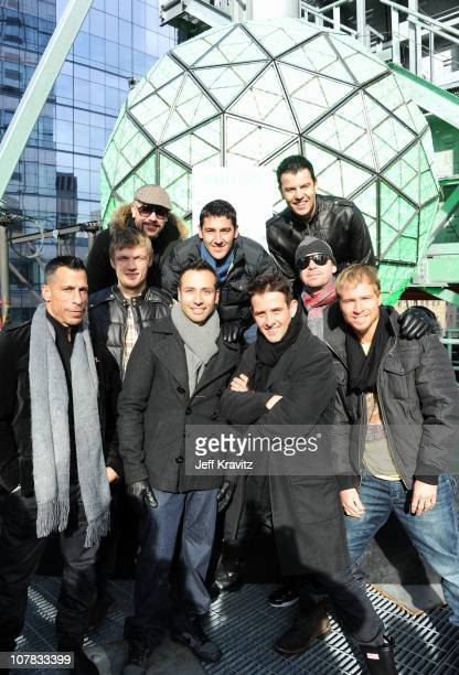 Danny Wood Nick Carter AJ McLean Howie Dorough Jonathan Knight Joey McIntyre Jordan Knight Donnie Wahlberg and Brian Littrell of New Kids On The...