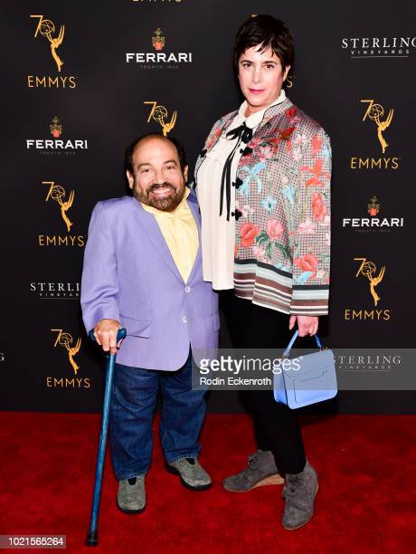 Danny Woodburn and guest attend the Television Academy's Daytime Programming Peer Group Reception at Saban Media Center on August 22 2018 in North...
