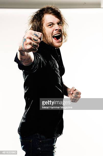 Danny Worsnop lead vocalist of British metalcore band Asking Alexandria photographed during a portrait shoot for Metal Hammer Magazine February 12...