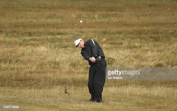 Danny Yates of USA during the Senior Amateur Open at Walton Heath Golf Club on August 13 2010 in London England