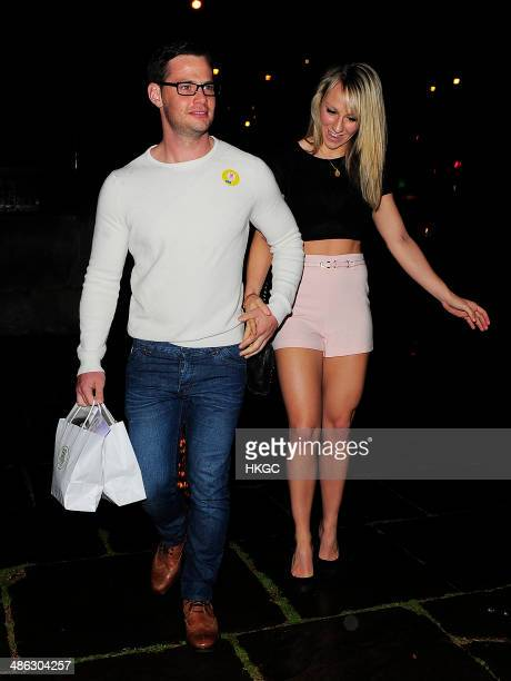 Danny Young and Chloe Madeley attend Superdrug's 50th Birthday party at 1 Marylebone on April 23 2014 in London England