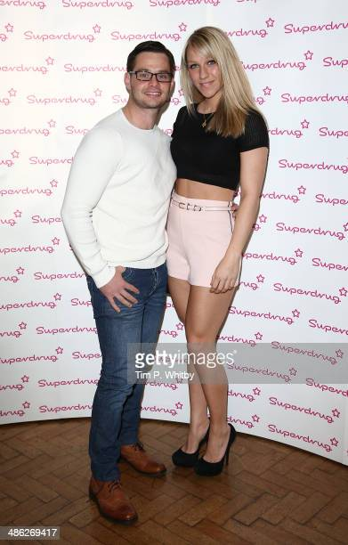 Danny Young and Chloe Madeley attend the Superdrug 50th Birthday celebration at One Marylebone on April 23 2014 in London England