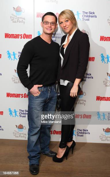Danny Young and Chloe Madeley attend the Woman's Own Big Chocolate Tea Party in aid of The Sick Children's Trust at May Fair Hotel on March 26 2013...