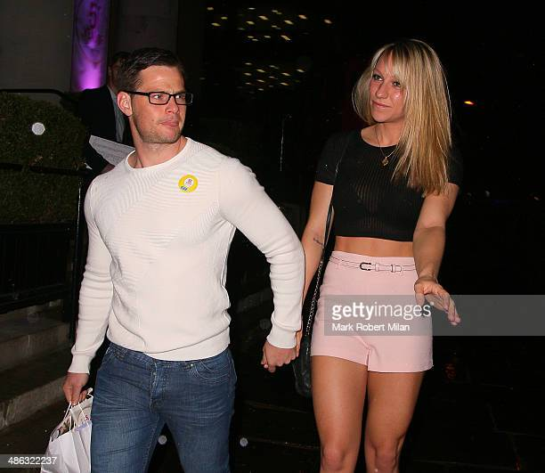 Danny Young and Chloe Madeley attending the Superdrug 50th Birthday celebration at One Marylebone on April 23 2014 in London England