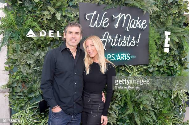 Danny Zoller and Amy Zoller attend PS ARTS' the pARTy 2018 at Marciano Art Foundation on May 4 2018 in Los Angeles California