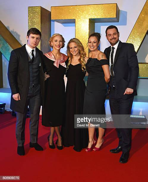 DannyBoy Hatchard Maddy Hill Kellie Bright Luisa BradshawWhite and Danny Dyer attend the 21st National Television Awards at The O2 Arena on January...