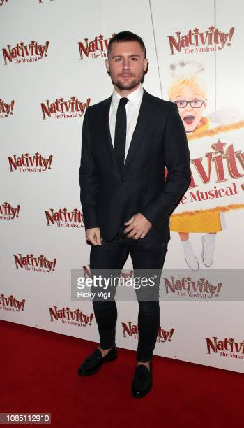 DannyBoy Hatchard seen arriving at Nativity The Musical gala performance at Hammersmith Apollo on December 20 2018 in London England