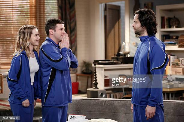 UNDATEABLE Danny's Boyz Walk Into a Bar Episode 311A Pictured Bridgit Mendler as Candace Brent Morin as Justin Chris D'Elia as Danny