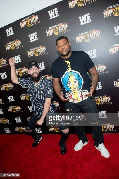 DanRue and NickNPattiwhack attend the 'Growing Up Hip Hop Atlanta' premiere at Woodruff Arts Center on May 23 2017 in Atlanta Georgia