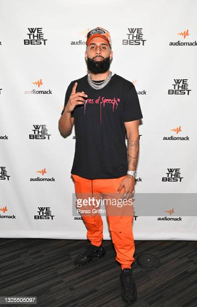 DanRue attends AudioMack Presents Beyond The Beat With DJ Khaled at The GRAMMY Museum on June 25, 2021 in Los Angeles, California.