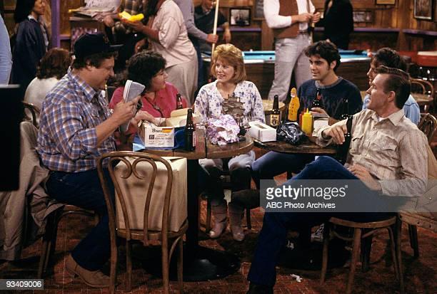 ROSEANNE Dan's Birthday Bash 1/3/89 John Goodman Roseanne Barr Natalie West George Clooney Laurie Metcalf Bill Sadler