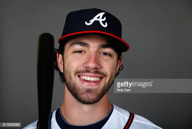 Dansby Swanson of the Atlanta Braves poses on photo day at Champion Stadium on February 26 2016 in Lake Buena Vista Florida