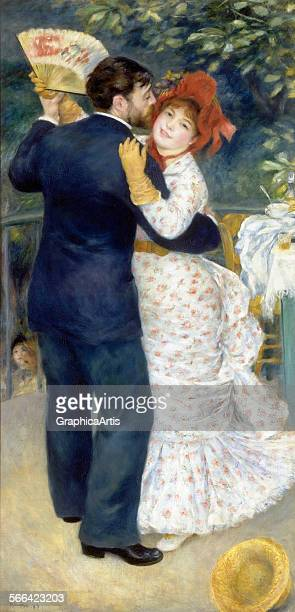 Danse a la campagne by PierreAuguste Renoir oil on canvas from the Musee d'Orsay Paris Commissioned by Paul DurandRuel the two dancers are modelled...