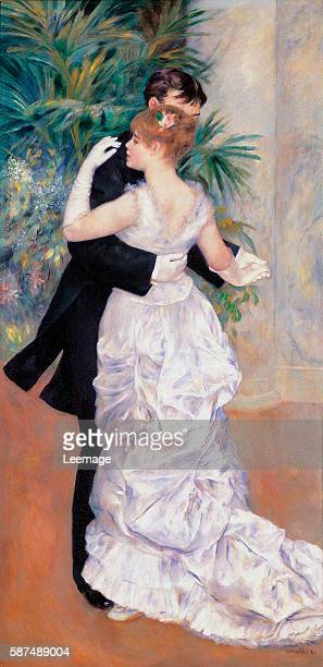 Danse à la ville Dancing in Town The french painter Suzanne Valadon was one of the models Painting by Pierre Auguste Renoir oil on canvas 180x90 cm...