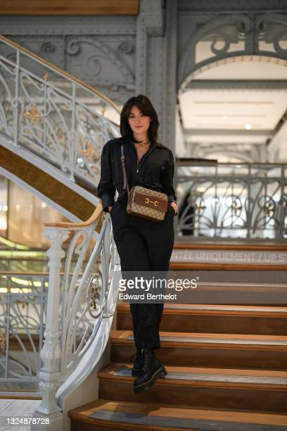 Danser Fleur Copin aka Kika Revolver @fleurcopin is seen, at La Samaritaine on June 22, 2021 in Paris, France. The department store was founded in...