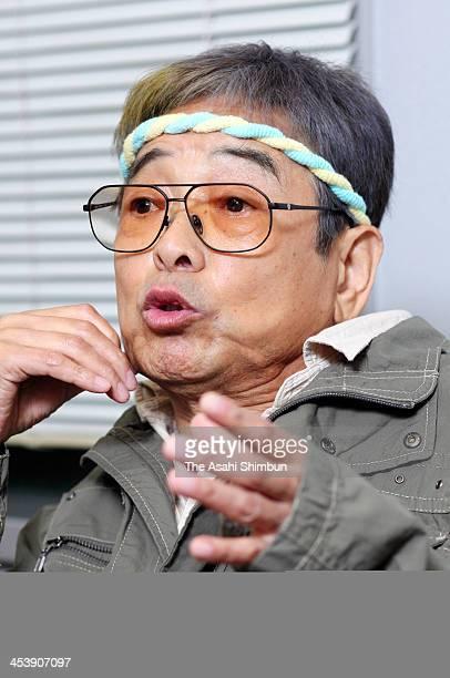 Danshi Tatekawa a master of Rakugo Japanese traditional art of story telling speaks during an interview at Akasaka on October 5 2013
