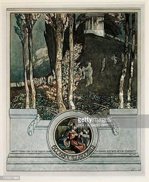 Dante Alighieri Divina Commedia 13041321 Inferno Canto III Illustration by Franz von Bayros Vienna 1921