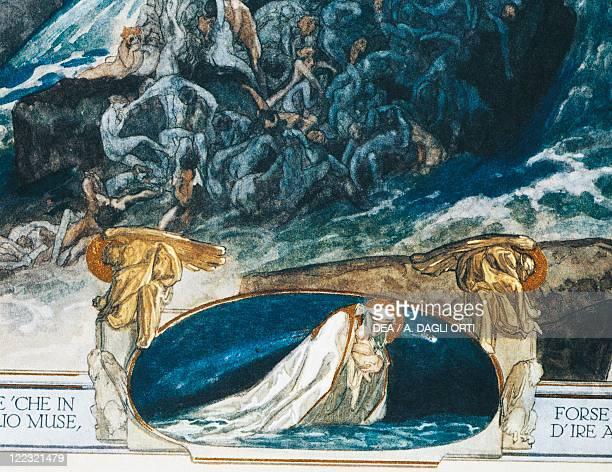 Dante Alighieri Divina Commedia 13041321 Inferno Canto XXVIII Illustration by Franz von Bayros Vienna 1921 Detail