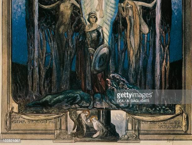 Dante Alighieri Divina Commedia 13041321 Paradiso Canto VII Illustration by Franz von Bayros Vienna 1921 Detail